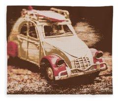 The Bygone Surfing Holiday Fleece Blanket