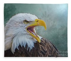 The Call Of The Eagle Fleece Blanket