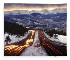The Call Of The Mountains Fleece Blanket