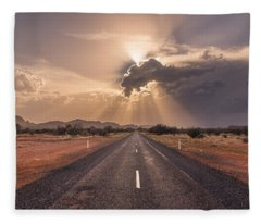 The Calm Before The Storm Fleece Blanket