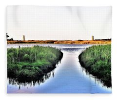 The Canal At Gordon's Pond Fleece Blanket
