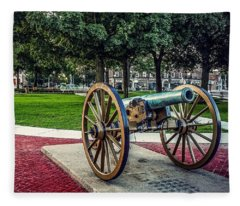 The Cannon In The Park Fleece Blanket