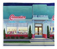 The Carnation Ice Cream Shop Fleece Blanket