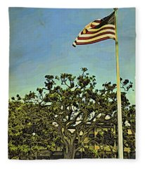 The Casements Flag Flying Fleece Blanket
