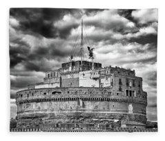 The Castle Of Sant'angelo In Rome Fleece Blanket