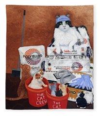 The Cat Crew Fleece Blanket