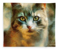 The Cat Eyes Fleece Blanket