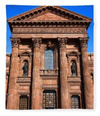 The Cathedral Basilica Of Saints Peter And Paul Fleece Blanket