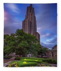 The Cathedral Of Learning Fleece Blanket