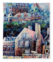 The Chateau Frontenac Fleece Blanket