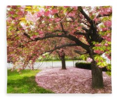 The Cherry Tree Fleece Blanket