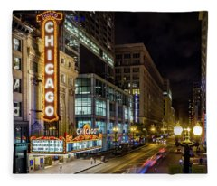 Illinois - The Chicago Theater Fleece Blanket