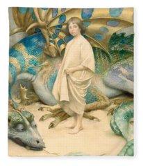 The Child In The World Fleece Blanket