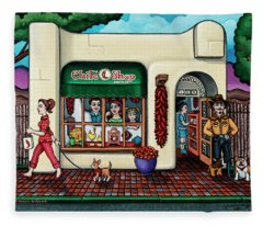 The Chile Shop Santa Fe Fleece Blanket