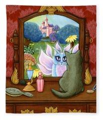 The Chimera Vanity - Fantasy World Fleece Blanket