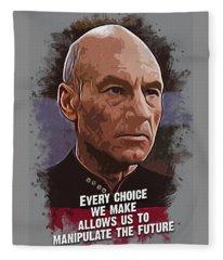 The Choice - Picard Fleece Blanket