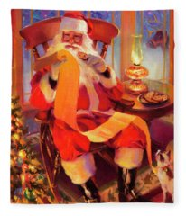 The Christmas List Fleece Blanket