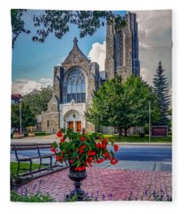 The Church In Summer Fleece Blanket