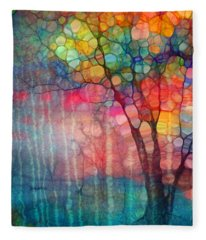 The Circus Tree Fleece Blanket