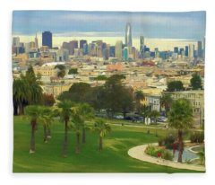 The City From Dolores Park Fleece Blanket