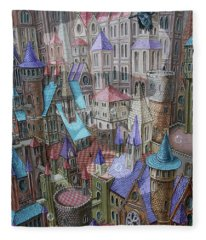 The City Of Crow Fleece Blanket