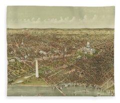 The City Of Washington Fleece Blanket