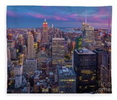 The City That Never Sleeps Fleece Blanket