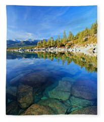 The Clarity Of Lake Tahoe Fleece Blanket