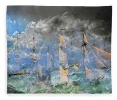 The Cleggan Bay Storm 1927 Fleece Blanket
