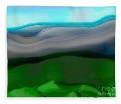 The Hilltop View Fleece Blanket