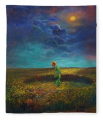 The Clock Of God Fleece Blanket
