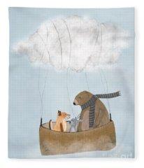 The Cloud Balloon Fleece Blanket