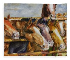 The Colorado Horse Rescue Fleece Blanket