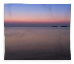 Dawn At The Mediterranean Sea Fleece Blanket
