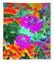 The Colors Of Life Fleece Blanket