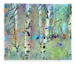 The Colouring Book In The Forest Fleece Blanket