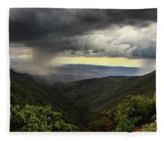 Fleece Blanket featuring the photograph The Coming Storm by Rick Furmanek
