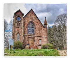 The Congregational Church  Of Northford, Ct Fleece Blanket