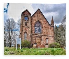 The Congregational Church  Of Northford, Ct Fleece Blanket