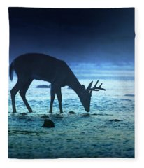 The Cool Of The Night - Square Fleece Blanket