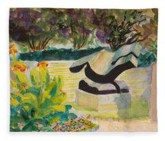 The Corinthian Garden Fleece Blanket