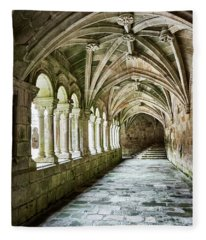 The Corridors Of The Monastery Fleece Blanket