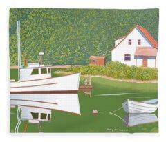 The Cottage At Blackberry Point Fleece Blanket