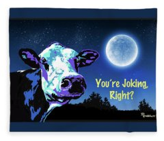 The Cow Jumps Over The Moon Fleece Blanket