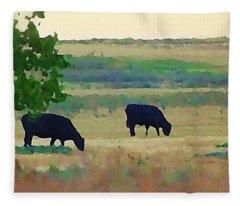 The Cows Next Door Fleece Blanket
