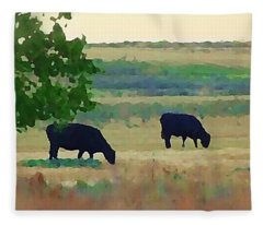 The Cows Next Door Fleece Blanket