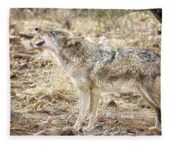 The Coyote Howl Fleece Blanket
