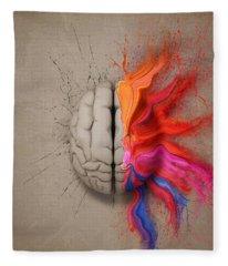 The Creative Brain Fleece Blanket
