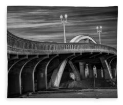 The Crooked Bridge Fleece Blanket