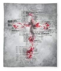 The Cross Speaks Fleece Blanket